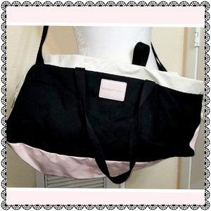 {Victoria's Secret} black/pink/white duffel bag